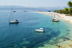 Famous beach in Croatia royalty free stock image