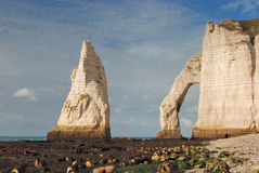 Famous beach of Etretat Stock Photography