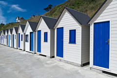 Famous Beach Huts in Trouville Royalty Free Stock Photography