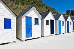Famous Beach Huts in Trouville Stock Photos