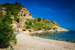 At the famous beach Isola Bella Royalty Free Stock Photo