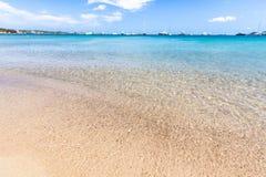 Beautiful beach on Sardegna island, Italy. Famous beach Liscia Ruja on Sardegna island, Italy royalty free stock images