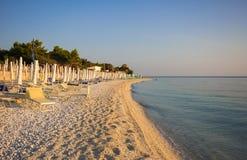 Famous beach in the marche region Stock Photo