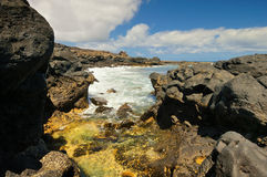 Famous beach and ocean lagoon Playa de las Teresitas,Tenerife, Canary islands, Spain Stock Image