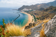 Famous beach Playa de las Teresitas,Tenerife, Canary islands, Sp Stock Image