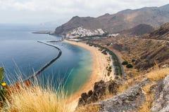 Famous beach Playa de las Teresitas,Tenerife Royalty Free Stock Photo