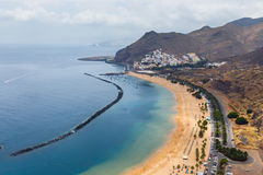 Famous beach Playa de las Teresitas,Tenerife. Canary islands, Spain Royalty Free Stock Photography
