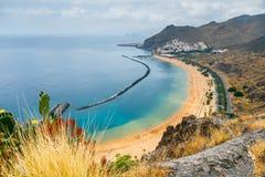Famous beach Playa de las Teresitas,Tenerife Stock Photo