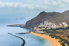 Famous beach Playa de las Teresitas,Tenerife Stock Image