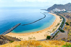 Famous beach Playa de las Teresitas,Tenerife Royalty Free Stock Photo