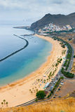 Famous beach Playa de las Teresitas,Tenerife Royalty Free Stock Photos