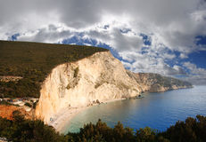 Famous beach,Porto Katsiki,Lefkas, Greece Royalty Free Stock Photography