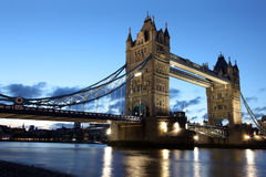 Famous and Beautiful  Evening View of Tower Bridge, London Royalty Free Stock Photography