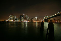 Famous and Beautiful night view to Manhattan Stock Photo