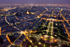 Famous and Beautiful night view to Paris Royalty Free Stock Image
