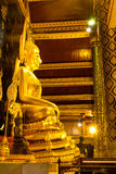 Famous beautiful Thai art golden buddha statue in Phitsanulok, Thailand Royalty Free Stock Photos