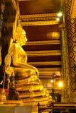 Famous beautiful Thai art golden buddha statue in Phitsanulok, Thailand Royalty Free Stock Photos