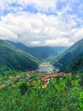 Uzungol at Trabzon City. Famous and beautiful Uzungol lake at Trabzon, Turkey Royalty Free Stock Images
