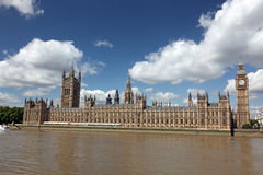 Famous and Beautiful view to Big Ben and the House of Parliament Stock Photos