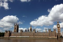 Famous and Beautiful view to Big Ben and the House of Parliament Stock Photo