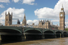 Famous and Beautiful view to Big Ben and the House of Parliament Stock Image