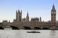 Famous and Beautiful view to Big Ben and Houses of Parliament Stock Image