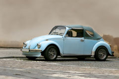 Famous beetle. In front of a wall Stock Photos