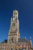Famous Belfry of Bruges (Belgium) Royalty Free Stock Image