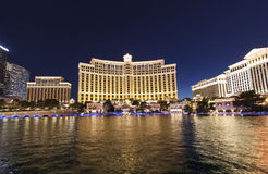 Famous Bellagio Hotel with water Royalty Free Stock Image