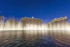 Famous Bellagio Hotel with water Stock Image