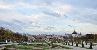 Famous Belvedere palace in Vienna Royalty Free Stock Photography