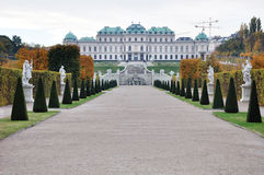 Famous Belvedere palace in Vienna Stock Photos