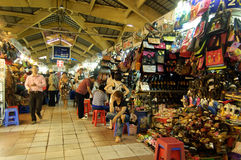 The Famous Ben Thanh Market in Ho Chi Minh City Royalty Free Stock Photo