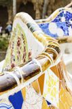Famous bench in Park Guell, Barcelona Royalty Free Stock Image