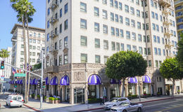 Famous Beverly Wilshire Hotel in Beverly Hills - LOS ANGELES - CALIFORNIA - APRIL 20, 2017. Famous Beverly Wilshire Hotel in Beverly Hills - LOS ANGELES Royalty Free Stock Image