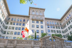 Famous Beverly Wilshire Hotel in Beverly Hills - LOS ANGELES - CALIFORNIA - APRIL 20, 2017 Stock Photography
