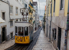 Famous Bica funicular in Lissabon Royalty Free Stock Photo