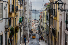 Famous Bica funicular in Lissabon Stock Image