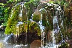 The famous Bigăr waterfall during spring stock image