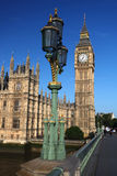 Famous Big Ben with bridge in London Stock Images