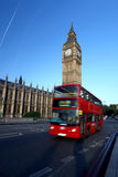 Famous Big Ben with bridge in London Royalty Free Stock Photos