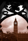 Famous Big Ben with gate in London Stock Image
