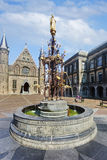 Famous Binnehof, The Hague, Netherlands. THE HAGUE-AUG. 10. Fountain at the Binnenhof (inner court), in The Hague. It has been the location of the Dutch Stock Photos