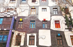 Famous and bizarre apartment blocks by architect Friedrich Hundertwasser Royalty Free Stock Image