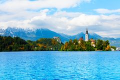 Famous bled island Royalty Free Stock Image