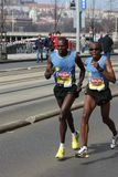 Famous blind runner Francis Thuo Karanja in Prague Royalty Free Stock Image