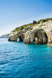 Famous blue caves view on Zakynthos island, Greece Stock Photography