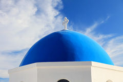 Famous blue domed church in Oia Royalty Free Stock Image