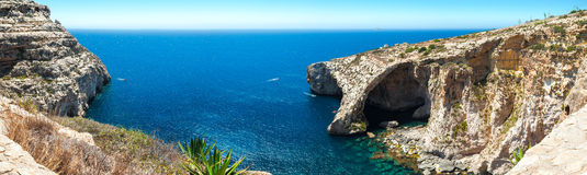 Famous Blue Grotto in Malta Royalty Free Stock Images