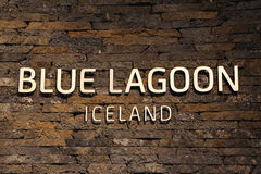 Famous Blue Lagoon Geothermal Spa in Iceland Stock Photos